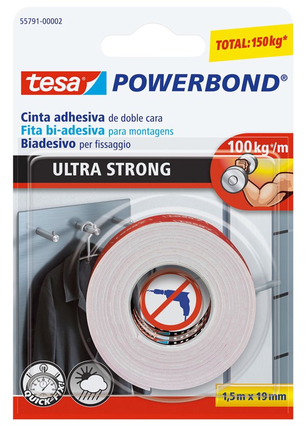 CZ 10322105 Cinta db cara ultra fuerte TESA 1,5mx19mm 55791-00002-01