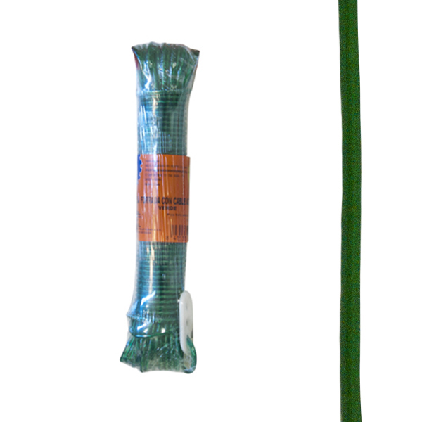 CZ 11805010 Cable acero forrado 4mm verde PROFER HOME 10m PH0687