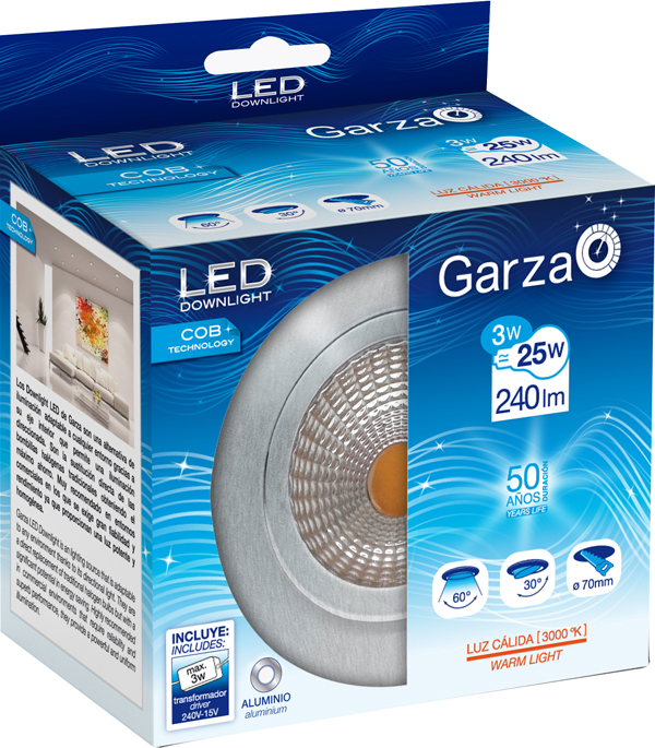 CZ 12599113 Foco led lamp int empo red ace GARZA 3w 400620