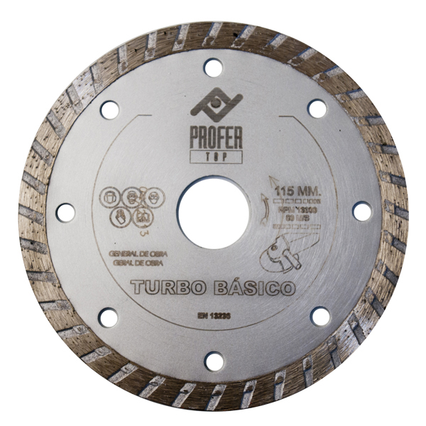 CZ 14476170 Disco diamante turbo basico PROFER TOP 115x7mm PT1011